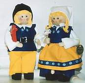 Swedish couple in national costume